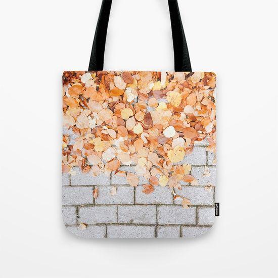 Orange Fall Tote Bag  #leaf #leaves #fall #autumn #nature #tree #colours #colors #outdoor #street #photography #orange #autumnleaves #autumnleaf #tote #totebag #fabricbag