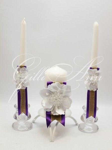 Набор свечей Семейный очаг Gilliann Valencia Gold CAN083, http://www.wedstyle.su/katalog/ceremony/svadebnye-svechi, wedding candle, wedding accessories