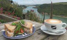Fern Pit Café, Newquay. Fern Pit Cafe Fern Pit Café, Newquay Facebook Twitter Pinterest The easy way to get here is from East Pentire (the cafe's car park is between bungalows on Newquay's western headland); the long way is to cross the river Gannel via gorgeous Crantock beach: at low tide, paddle through the sandy shallows; when the water's up, climb aboard the Fern Pit's own ferry. Either way,