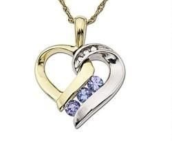 This heart Pendant has two tone colors with a Zircon diamond and Amethyst. Made from 925 sterling silver and 18k white and yellow gold plated.The Pendant dimensions are 2cm by 2cm. The... More Details