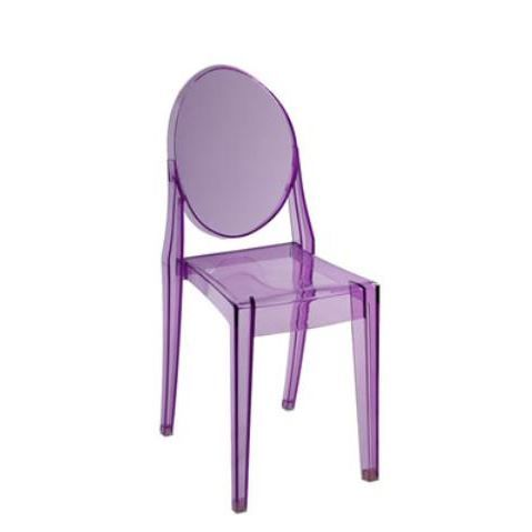 chaise ghost mauve - Achat / Vente chaise Violet - Cdiscount