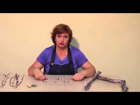 Приваливаливание бусин к изделиям из войлока. Авторская методика Ольги Демьяновой - YouTube