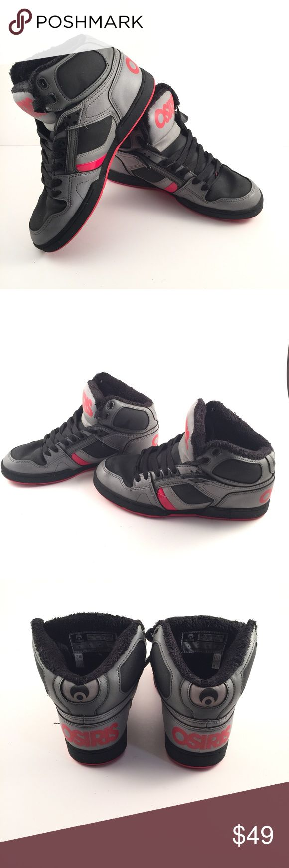Osiris Size 9 NYC 83 SHR Skate Shoe Black Grey Red Men's Osiris Size 9 NYC 83 SHR Skate Skateboard Shoes Kicks Black Grey Red. Osiris is the brand to chose when it comes to skateboard shoes. These are well taken care of and have soft warm lining. Don't miss out! Osiris Shoes Sneakers