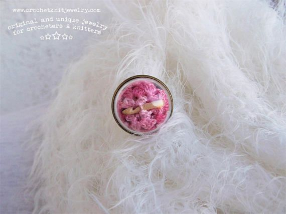 round crochet brooch pink, shawl pin, recycled doily, miniature crochet, crochet jewelry, stocking filler gift, christmas gift for her This brooch from the Crochet collection was designed and hand crafted at CrochetKnitJewelry's studio. It is just a perfect accessory to spice up