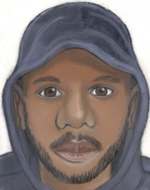 A sketch provided by the Detroit Police Department shows one of several suspects who allegedly robbed young couples in separate attacks in Detroit Thursday, July 16, 2015 and gang-raped the women while forcing their male victims to watch. The attacks happened Thursday night along the same major east-west street on Detroit's northwest side, police said, and in both cases, the attackers had handguns. (Detroit Police Department via AP)