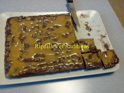 ripailles et traditions, gâteau,  aux bonbons Daim d'Ikea et caramel