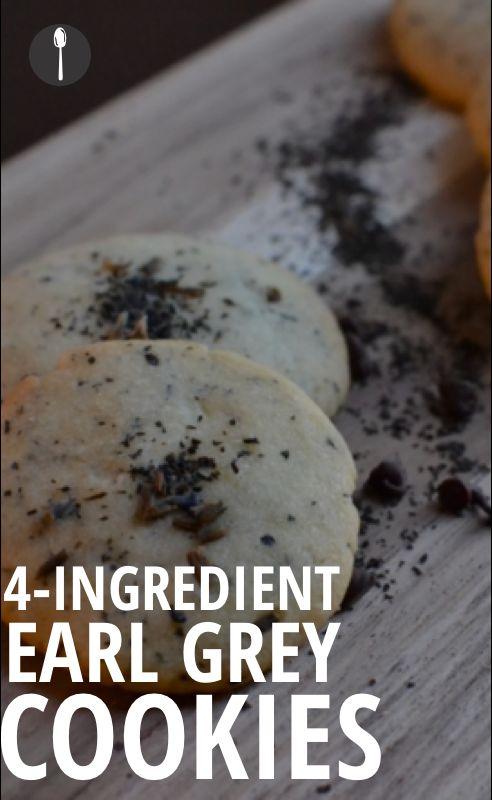 How to make 4-ingredient Earl Grey cookies.