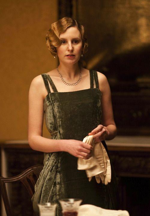 Laura Carmichael as Lady Edith Crawley in Downton Abbey (2012).