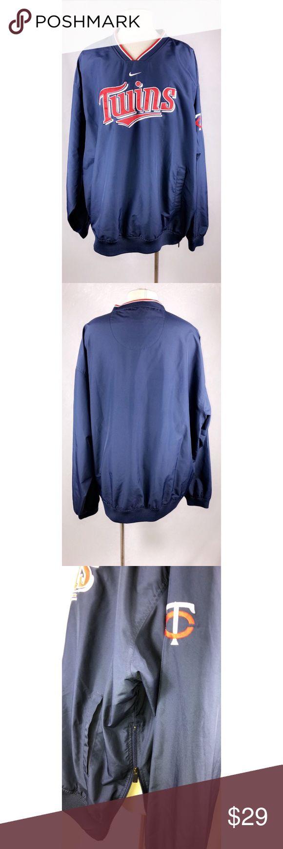Nike Minnesota Twins Baseball Men's Nike Mn Twins Men's Baseball Pullover  Size: XXL EUC Nike Jackets & Coats Windbreakers
