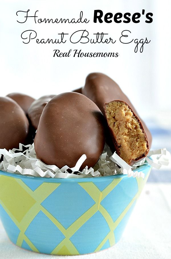 Homemade Reese's Peanut Butter Eggs | Real Housemoms | #Easter #dessert