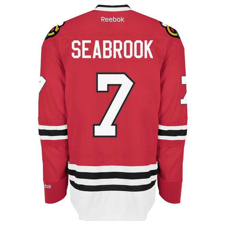 Chicago Blackhawks Mens Brent Seabrook Red Home Premier Jersey by Reebok #Chicago #Blackhawks #ChicagoBlackhawks #Seabrook #Seabs