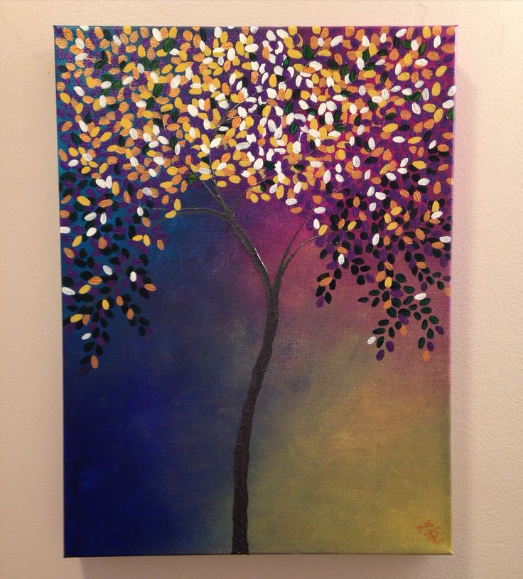 Shimmer tree II painting