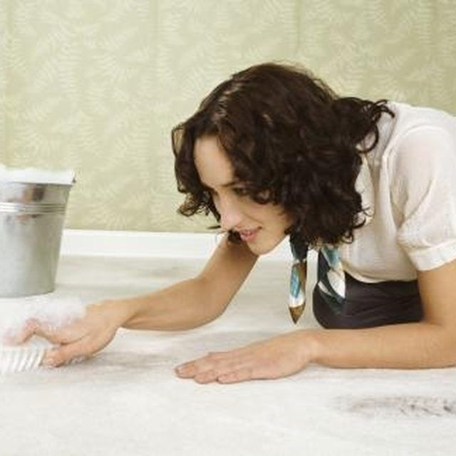 Make your own carpet cleaning solution to save money.