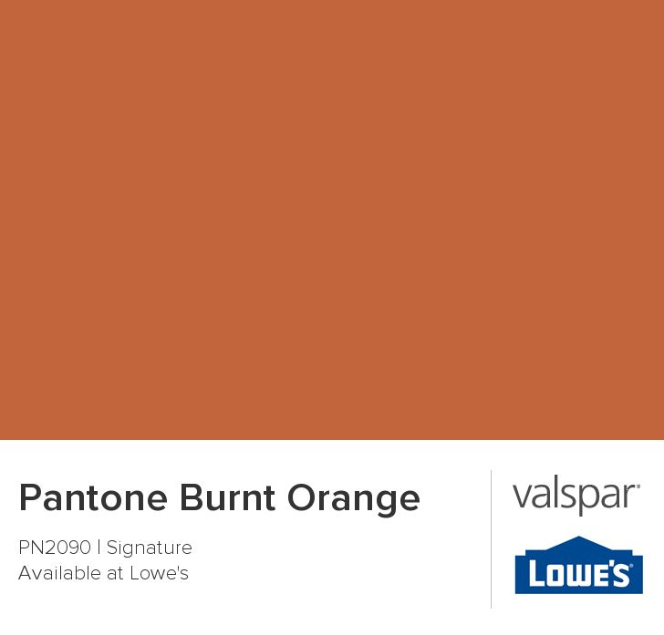 Pantone Burnt Orange from Valspar