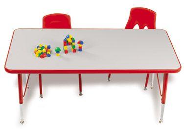 #LakeshoreDreamClassroom  Rainbow Space-Saver Rectangular Tables