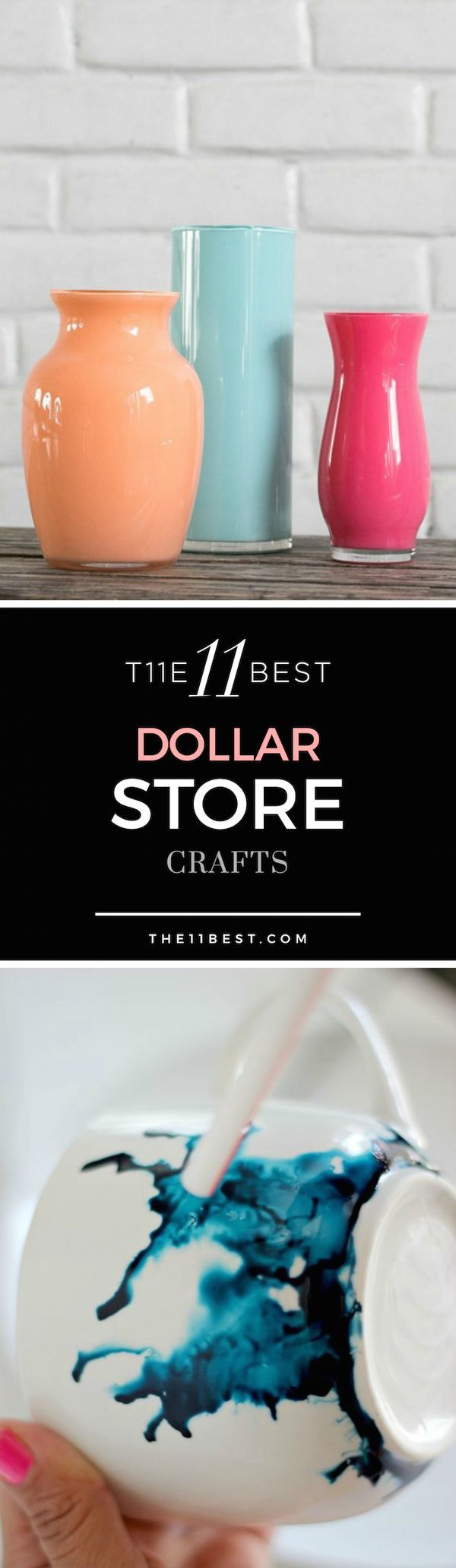 Want your next DIY project? Here are 11 fun crafts that you can make using items from the dollar store that look amazing when you're done!