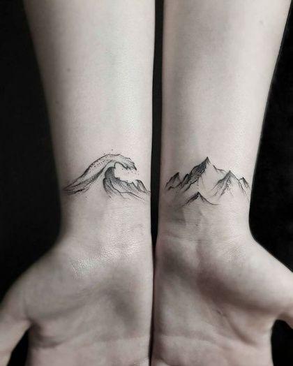 Deux tatouages entre terre et mer