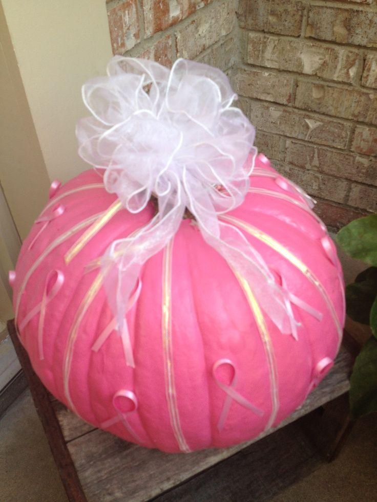breast cancer pumpkin ideas breast cancer awareness pumpkin