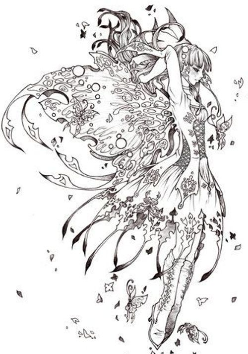 coloring pages of mystical angels - photo#46