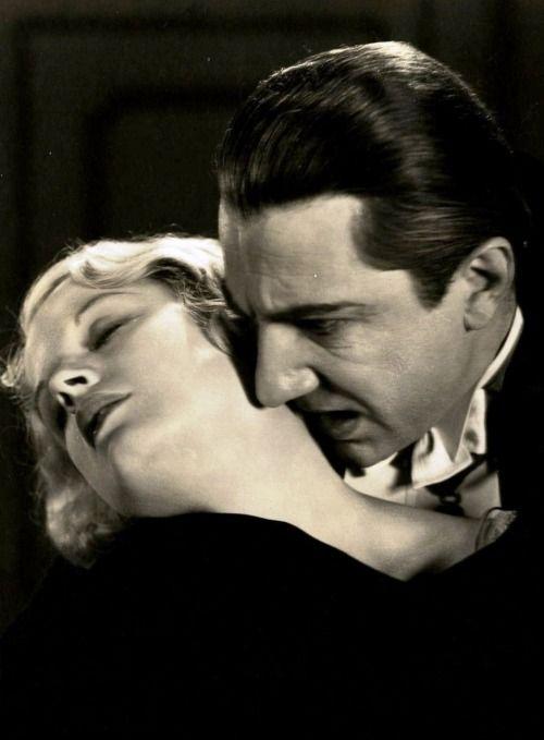 "oldhollywood: "" Bela Lugosi and Helen Chandler in Dracula (1931, dir. Tod Browning) """