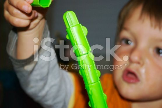 Developing Fine Motor Skills with Toppletree Game royalty-free stock photo
