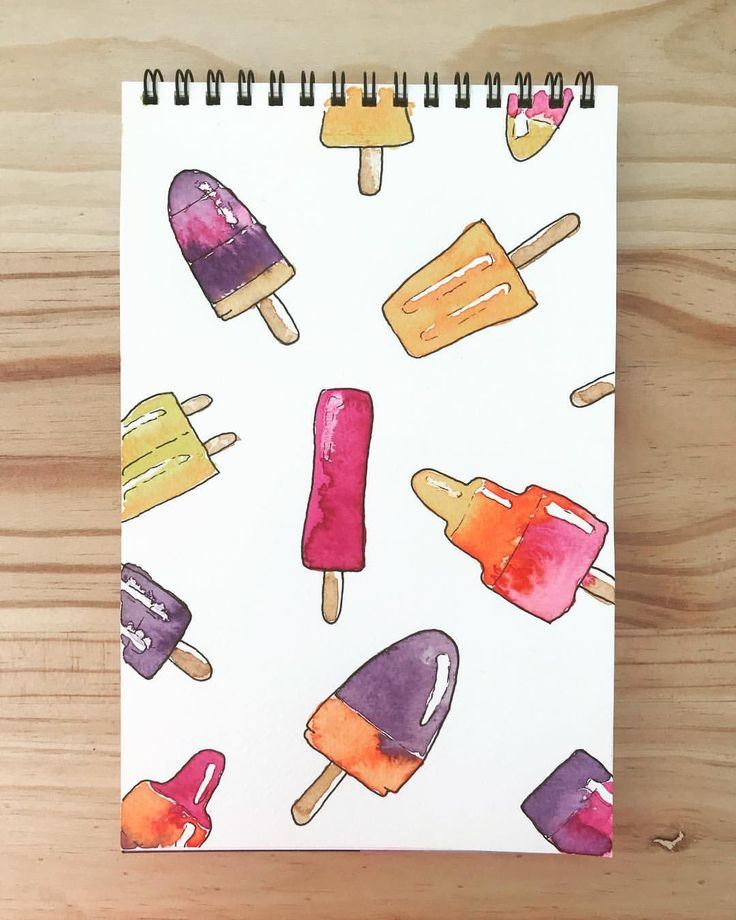 """23 Likes, 1 Comments - Maybloom Studio (@maybloomstudio) on Instagram: """"40/365 Popsicles, inspired by the ice cream truck music! #maybloomstudio #watercolour #schmincke…"""""""