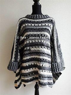 Crochet Poncho with Cuffs #pattern #diy #tutorial