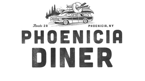 The Phoenicia Diner Logo  by Gabriele Wilson Design