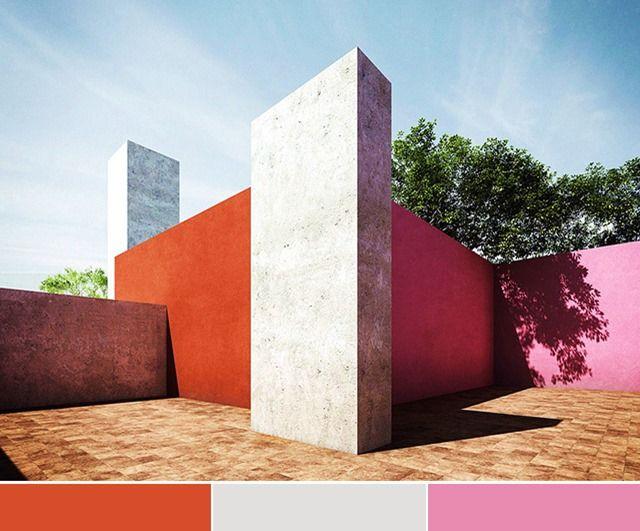 17 best images about colour in architecture luis barragan for Jardin 17 luis barragan