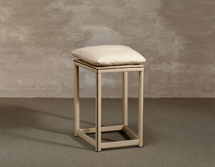 Perching Stool In Leather By John Saladino