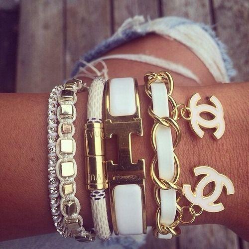 I'm salivating over that Chanel bracelet.