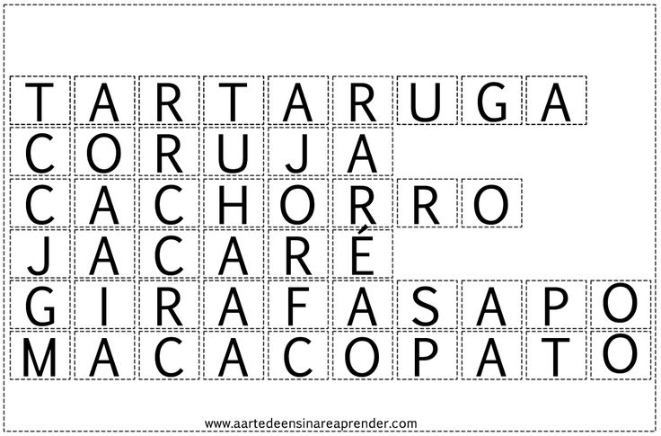 Jogo pedagógico que consiste em colocar as letras em ordem e formar a palavra. Muito fácil de fazer e bastante ef...
