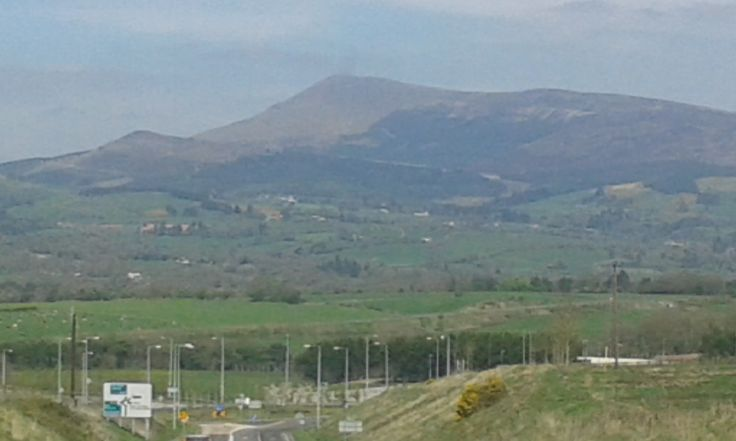 View of the Galtee mountains and surronds in Mitchelstown county Cork in Southern #Ireland.