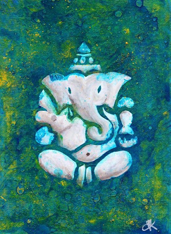 green artsy elephant