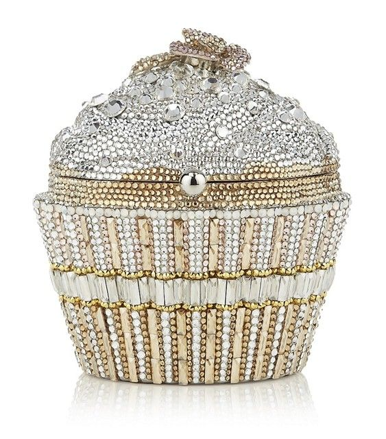 Judith Leiber Champagne Sequin Cupcake Clutch Bag (I'm kindof obsessed with cupcakes)