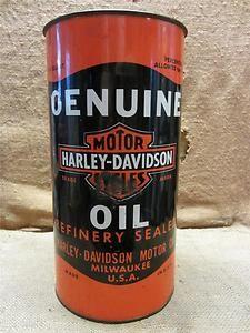 RARE Vintage Harley Davidson Dealership Trash Can Genuine Motor Oil Bike 7630 | eBay