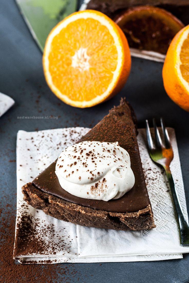 chocolade sinaasappel mousse taart - Recept op de Nest Warehouse blog