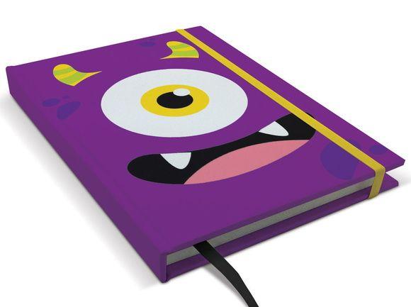 Caderno Monstro Roxo