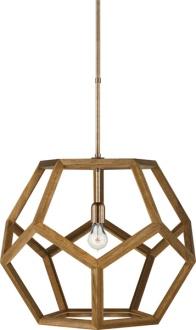 Lauren Ralph Lauren Large Dustin Dodecahedron Wood Pendant at Circa Lighting.