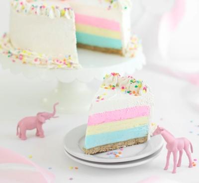 colorful confetti cake
