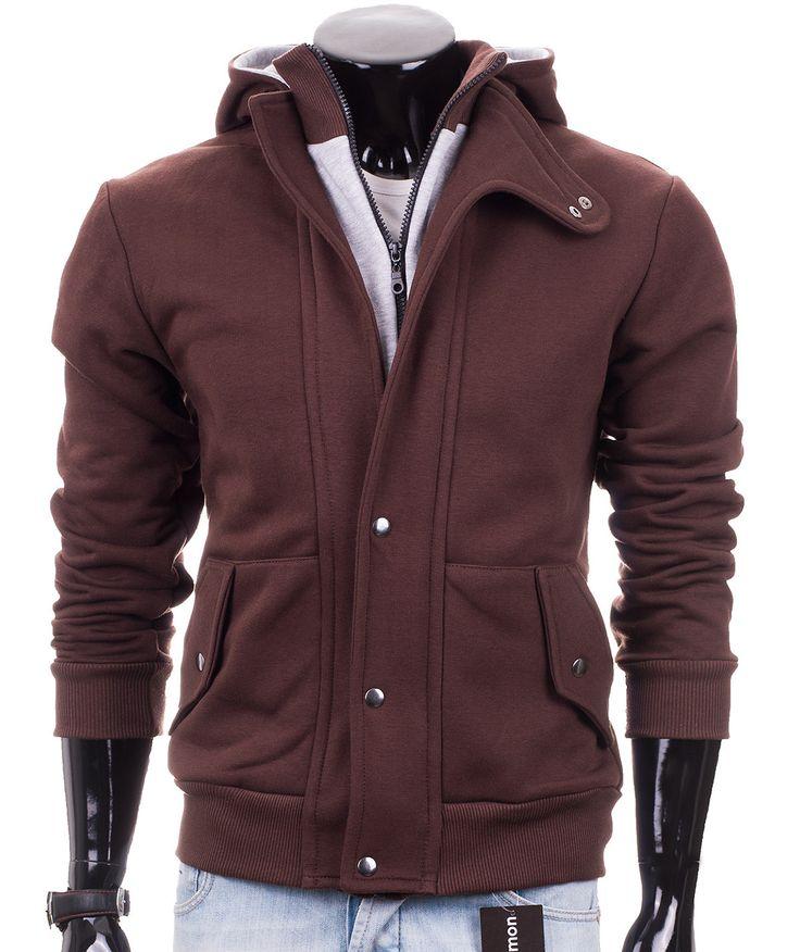 Brązowa rozpinana bluza męska Carlo Lamon. Nowe bluzy w odcieniach brązu już są dostępne: http://lamon.pl/product-pol-6222-Rozpinana-meska-bluza-Dario-od-Carlo-Lamon.html