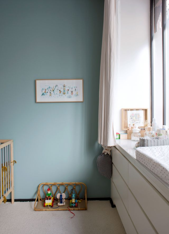Peinture dix blue farrow and ball colors inspirations for Peinture pailletee pour chambre