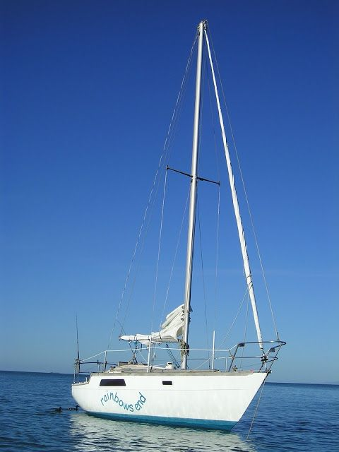 Our lovely little Raven 26 - Rainbows End. We had a great time sailing on her in the Hauraki Gulf.