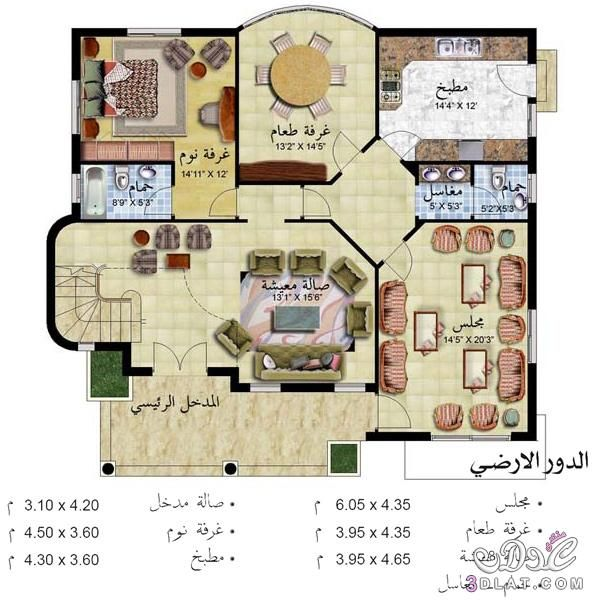 احدث تصاميم منازل House Floor Design Square House Plans My House Plans