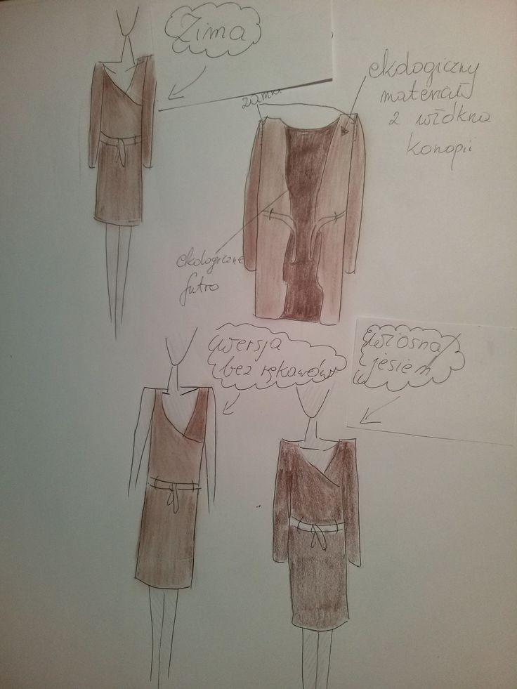 Zaprojektowany w ten sposób płaszcz myślę,że jest znakomitym rozwiązaniem gdyż jest wielofunkcyjny i ekologiczny ze wzgląd na materiał z którego byłby uszyty. Sprawdzi się w każdej sytuacji! #mnishkha #konkurs #polskidesign #polishfashion #polscyprojektanci #zostanprojektantem