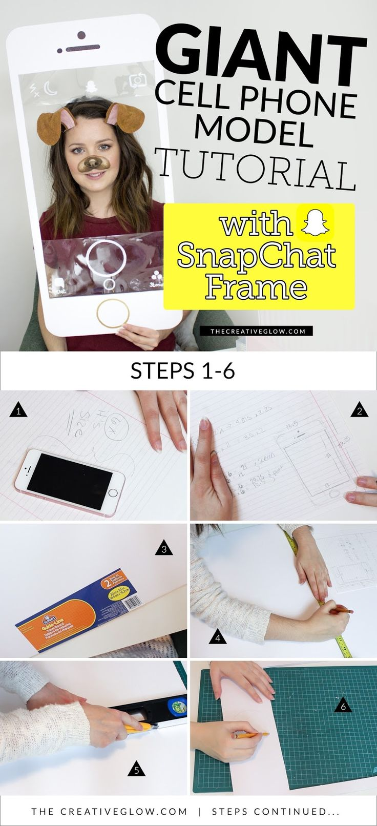 SnapChat Puppy & Deer Filter Costumes - PART 2   Showing you how to make the Puppy and Deer Ears and the Giant Cell Phone model.