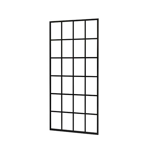 Inloopdouche Black Screen 100x200cm Antikalk Helder Glas Zwart Profiel 10mm Veiligheidsglas Easy Clean