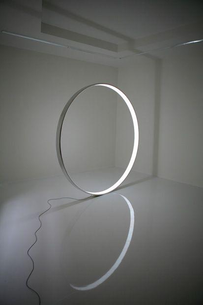Martin Sedlák, 'Gate' abstract metal & light sculpture 190x190x10cm (2008) _