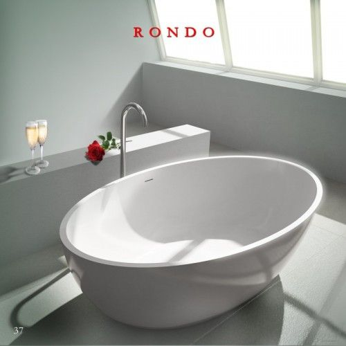 The Rondo Solid Surface Stone Tub Is A European Style Soaker Tub That Is  More Spacious And Deeper Than Most Standalone Bathtubs. The Oval Shaped  Stone Resin ...