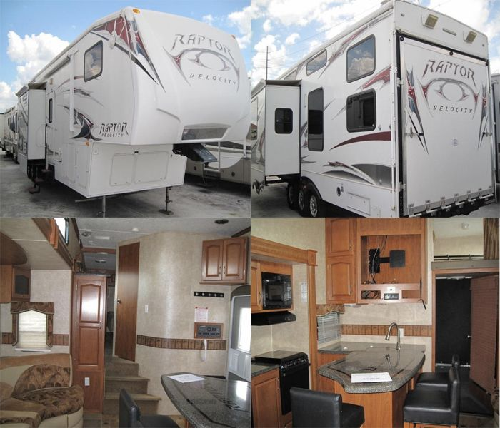 Get most beneficial deal on Cheap Used 2009 #Keystone Raptor Velocity 3812TS #Fifth_wheel by Camper Corral Inc. in Sebring, FL, USA for $39995. For more details: http://www.usedrvs-motorhomes.com/used-rvs/2009/fifth-wheel/keystone/raptor/velocity-3812ts/6080/